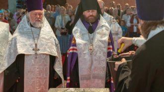 Слово управляющего Западным викариатством епископа Павлово-Посадского Фомы на освящении закладного камня Смоленского храма на Давыдковской улице