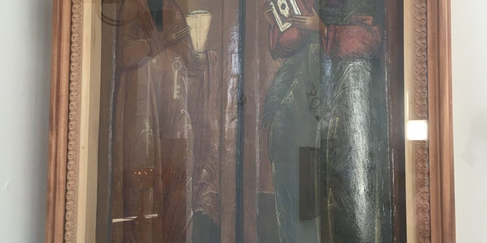 В храм прп. Андрея Рублева вернулась отреставрированная икона