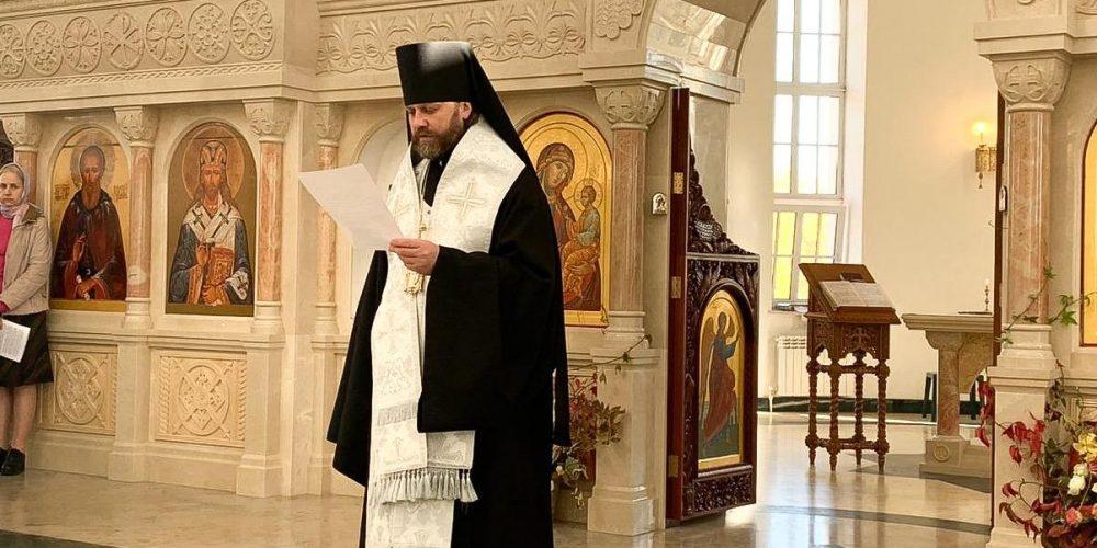 Епископ Павлово-Посадский Фома совершил отпевание протоиерея Димитрия Арзуманова