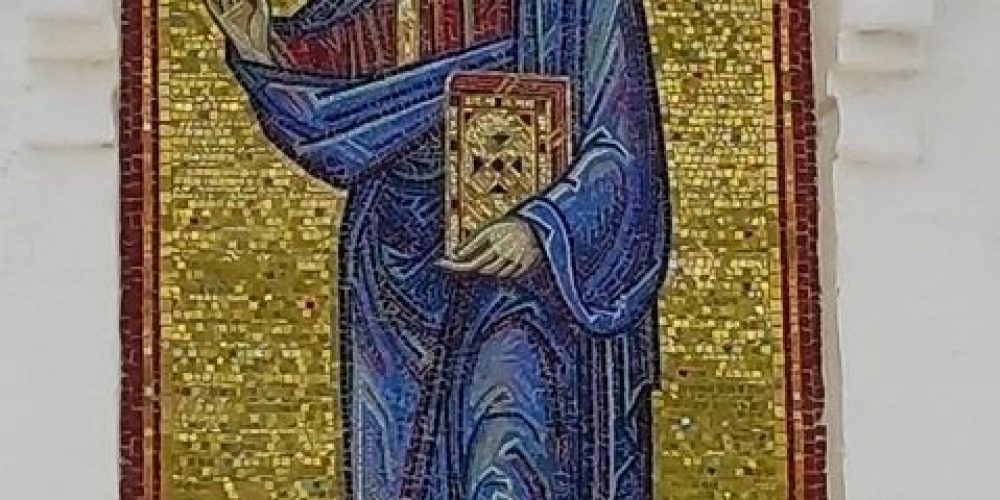 Чин освящения мозаичной иконы Христа Спасителя совершили в храме свт. Спиридона Тримифунтского