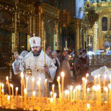В Богоявленском соборе владыка Фома совершил Литургию в Троицкую родительскую субботу