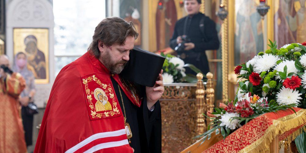 Епископ Фома совершил Литургию в престольный праздник в храме св. вмч. Георгия на Поклонной горе