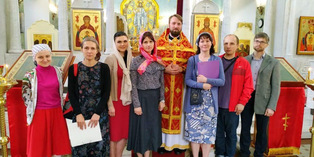 Молодежная литургия в храме Знамения 1 июня