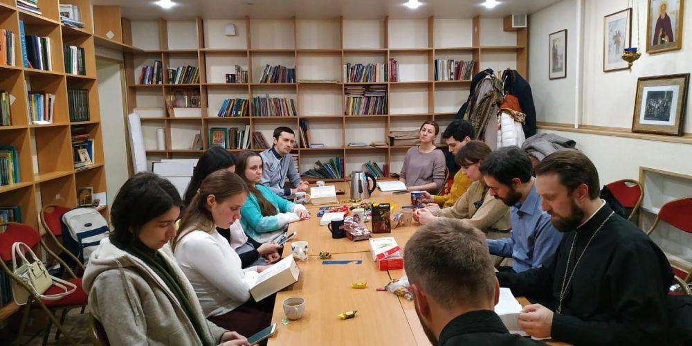 """В храме """"Знамения"""" в Кунцеве состоялась очередная Библейская беседа"""