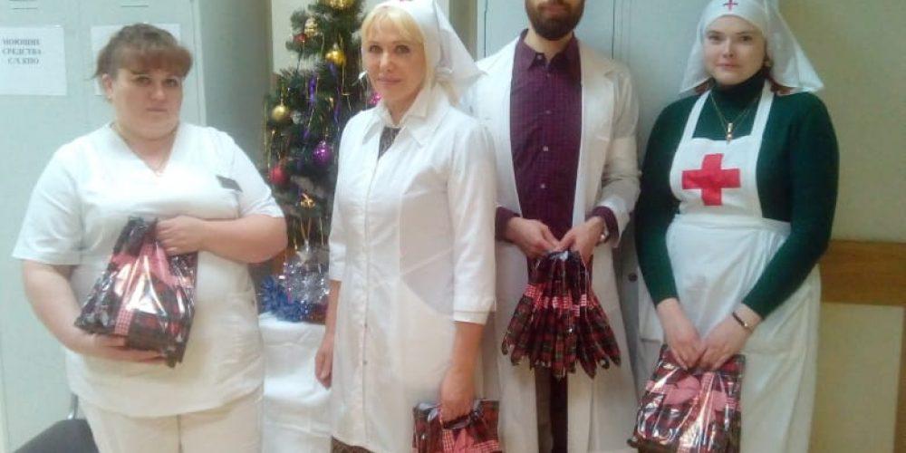 Поздравление с праздником Рождества Христова пациентов больницы №51