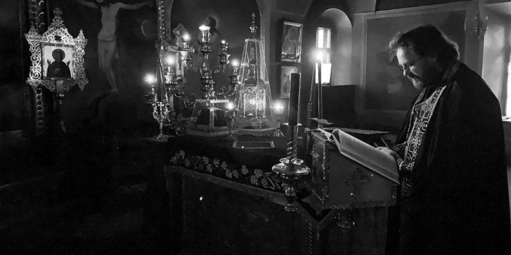 В понедельник первой седмицы Великого поста  епископ Павлово-Посадский Фома молился в храме свт. Николая в Хамовниках