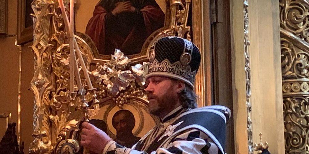 Владыка Фома совершил заупокойную панихиду по приснопоминаемому протоиерею Александру Агейкину