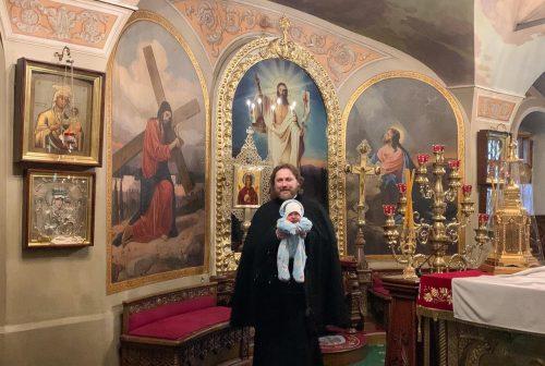 Таинство Крещения совершил епископ Фома в храме свт. Николая в Хамовниках