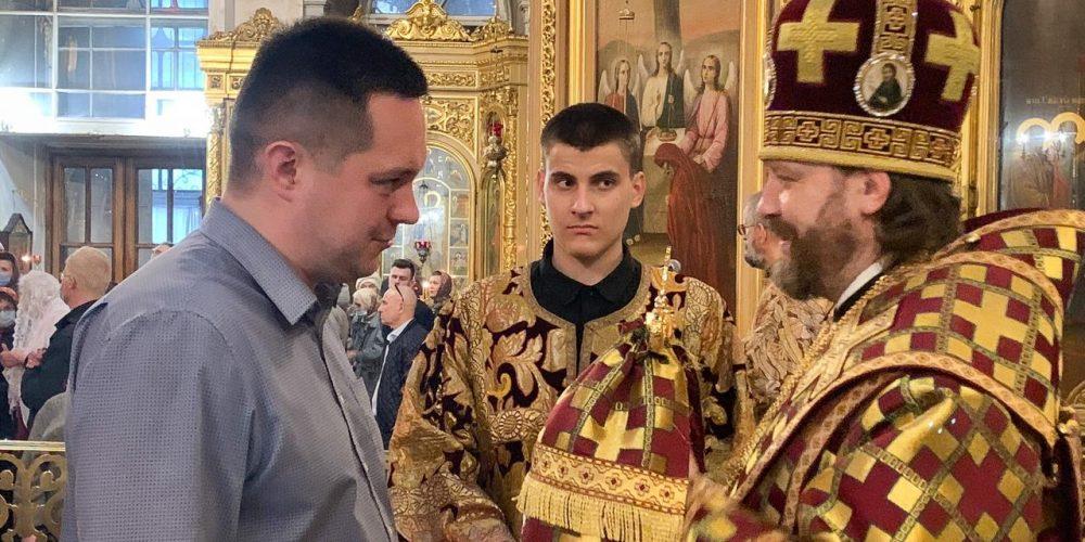 Всенощное бдение в старинных облачениях совершил епископ Одинцовский и Красногорский Фома