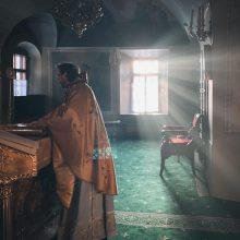 Епископ Одинцовский и Красногорский Фома возглавил Литургию в храме святителя Николая в Хамовниках