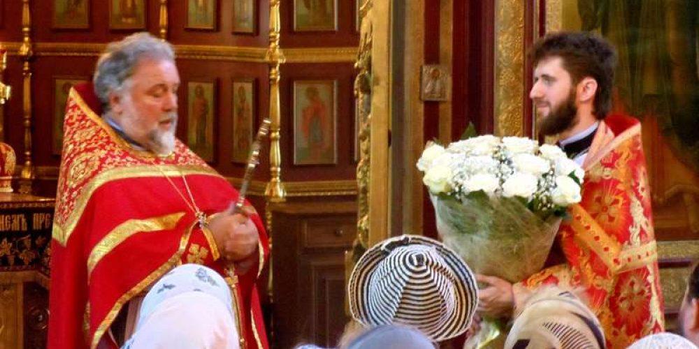 Поздравление настоятеля и благочинного протоиерея Георгия Студенова с 38-летием служения Церкви Христовой