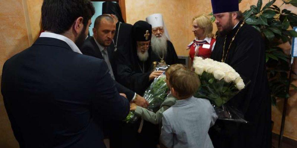 Встреча делегации Грузинской Православной Церкви во главе со Святейшим и  Блаженнейшим Каталикосом- Патриархом всея Грузии Илией II