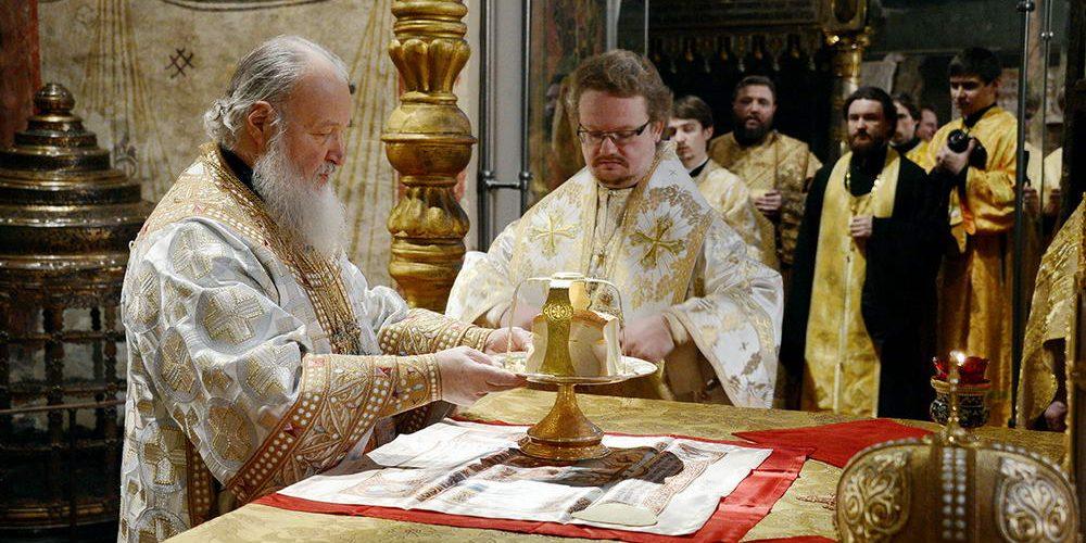 Праздник Собора Пресвятой Богородицы в Успенском соборе Московского Кремля