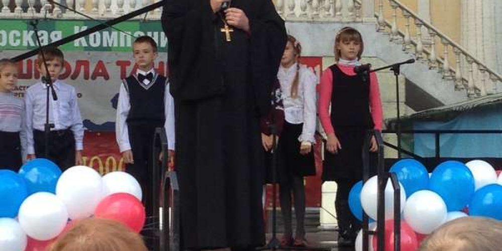 Воскресная школа поздравила жителей района с днем города
