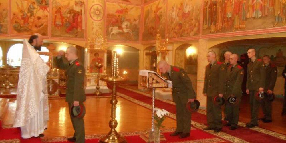 19 сентября в день празднования чуда Архангела Михаила в Хонех в храме Военной академии Генерального штаба была совершена божественная Литургия