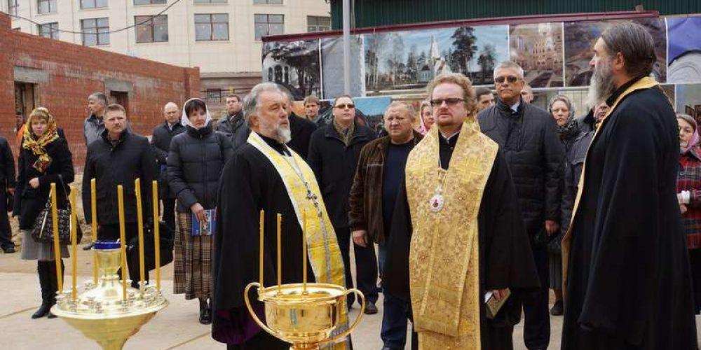 Освящение креста храма Иверской иконы Божией Матери в Очаково – Матвеевском
