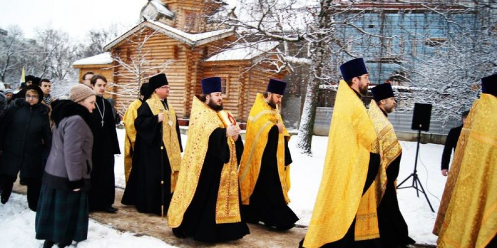 Освящение креста Храма Святителя Иова