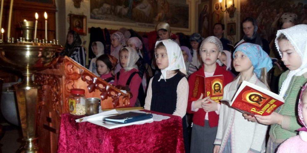 30 марта в Крестильном храме подворья состоялась первая Великопостная Литургия для детей