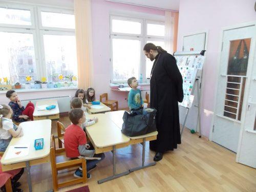 Встреча со священником в детском саду № 2286