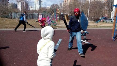 Игра Семейные старты при храме преп. Евфросинии Полоцкой 5 апреля 2014 г.
