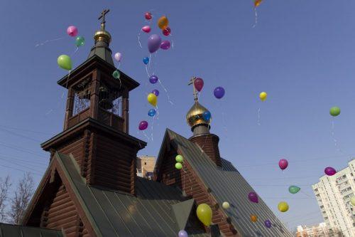 Детский пасхальный праздник в храме прав. Иоанна Русского в Кунцево