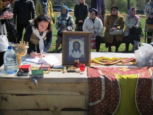 Часовня и Пасхальный молебен на месте строительства храма в честь иконы Божией Матери «Неопалимая Купина» в Очаково