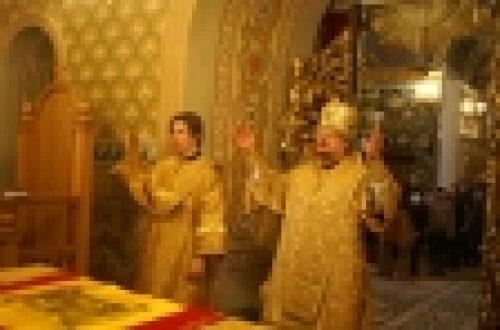 Епископ Игнатий совершил Божественную литургию в нашем храме