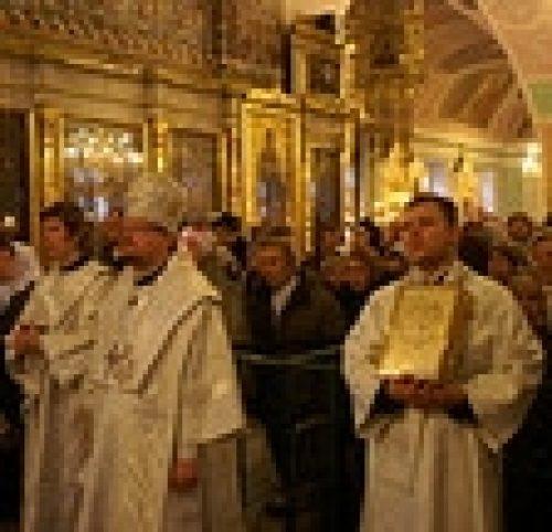В Крещенский сочельник епископ Игнатий совершил божественную литургию
