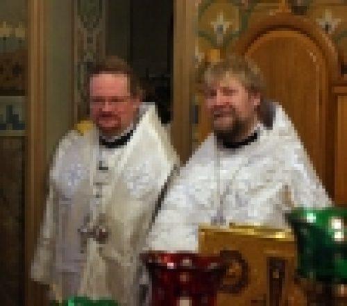 В праздник Крещения Господня епископ Бронницкий Игнатий совершил Божественную Литургию в храме Рождества Иоанна Предтечи на Пресне
