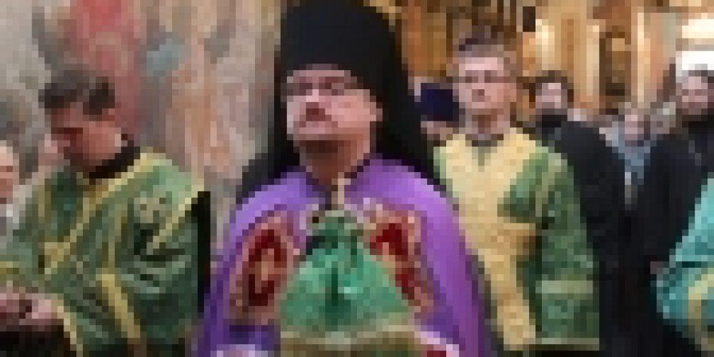 Епископ Бронницкий Игнатий совершил Божественную литургию в храме прпп. Зосимы и Савватия Соловецких в Гольяново