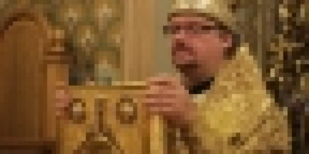 В Неделю 18-ю по Пятидесятнице епископ Бронницкий Игнатий совершил Божественную литургию в храме Рождества Иоанна Предтечи на Пресне