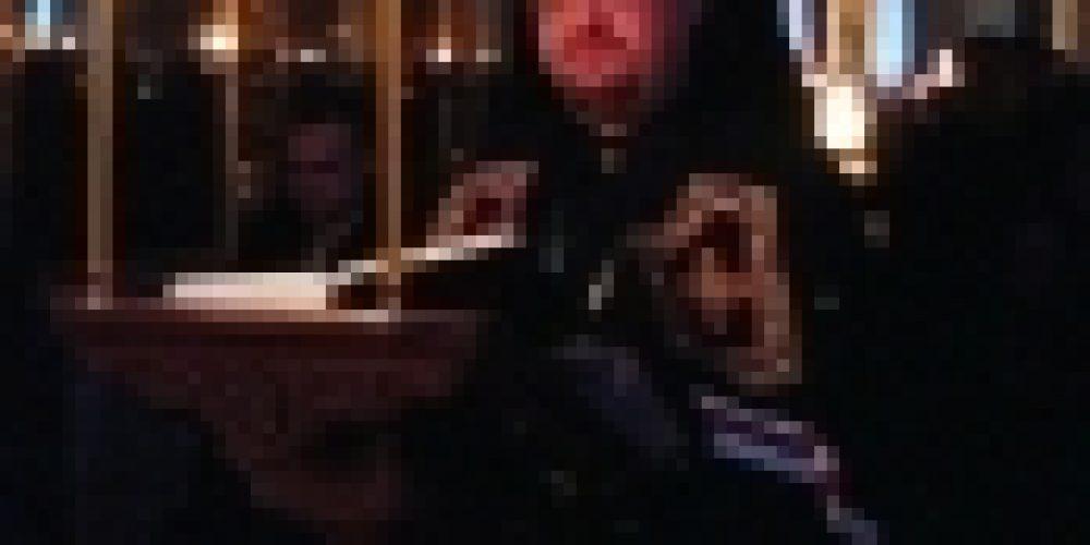 Епископ Выборгский и Приозерский совершил повечерие с чтением Великого канона прп. Андрея Критского в храме Рождества Иоанна Предтечи на Пресне