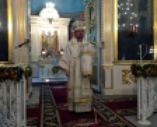 В праздник Преображения Господня епископ Выборгский и Приозерский Игнатий совершил Литургию на Соборной площади Выборга