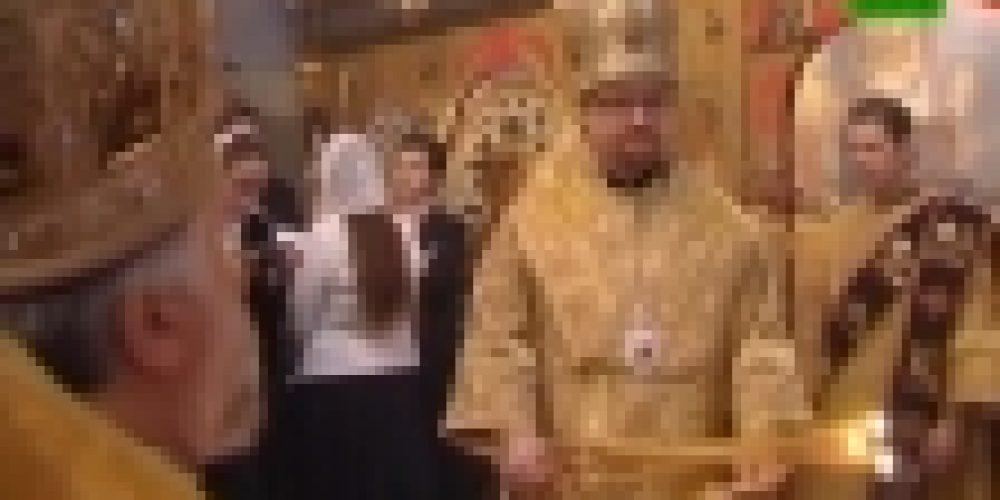 Великое освящение храма в честь св. Димитрия возглавил епископ Выборгский Игнатий. Видеосюжет