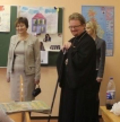 Состоялся визит епископа Выборгского и Приозерского Игнатия в школы г.Выборга