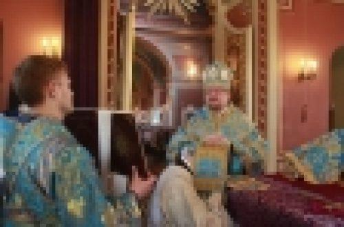 На Благовещение Пресвятой Богородицы епископ Выборгский и Приозерский Игнатий возглавил Богослужения в Спасо-Преображенском соборе г. Выборга