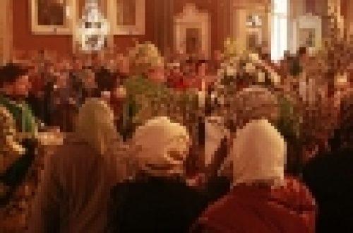 В праздник Входа Господня в Иерусалим епископ Выборгский и Приозерский Игнатий совершил Литургию в кафедральном соборе г. Выборга