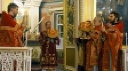 Епископ Выборгский и Приозерский Игнатий совершил праздничное Пасхальное богослужение в Спасо-Преображенском соборе г.Выборга