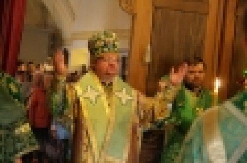 Епископ Выборгский и Приозерский Игнатий освятил храм в честь прп.Арсения Коневского на острове Коневец
