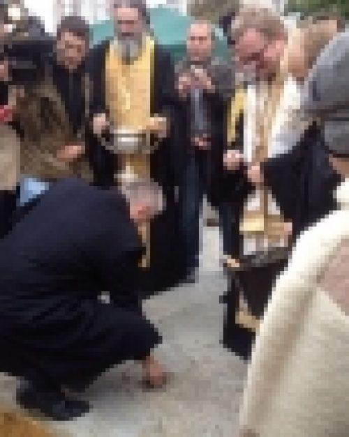 Чин закладки храма св. апп. Петра и Павла в Тропарево совершил епископ Выборгский и Приозерский Игнатий