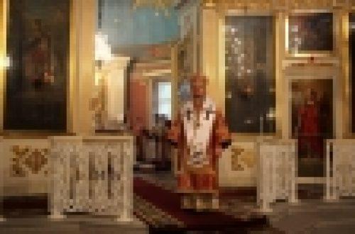 Епископ Выборгский и Приозерский Игнатий совершил Божественную литургию в Спасо-Преображенском Соборе г.Выборга