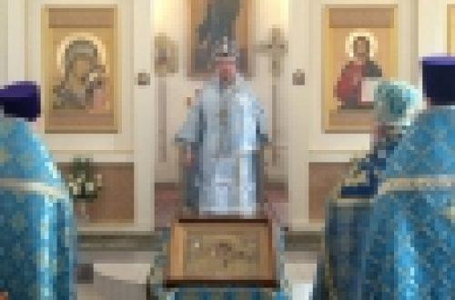 Eпископ Выборгский и Приозерский Игнатий совершил Божественную литургию в храме Казанской иконы Божией Матери в Орлово