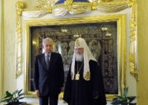 Состоялась встреча Святейшего Патриарха Кирилла с председателем Совета министров Италии Марио Монти