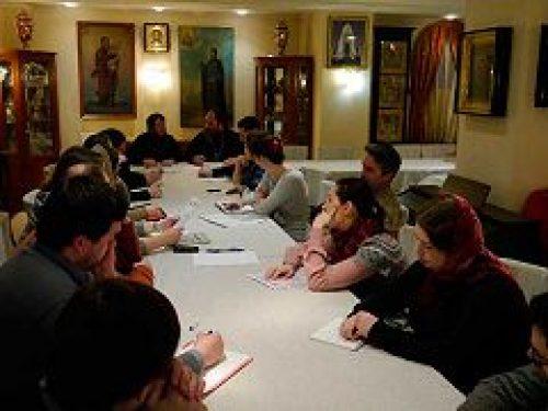 В храме прп. Евфросинии, вел. кн. Московской, в Котловке прошло заседание Оргкомитета III Форума православной молодежи
