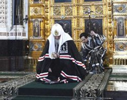 Предстоятель Русской Церкви совершил вечерню с чином прощения в Храме Христа Спасителя