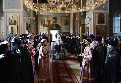 Святейший Патриарх Кирилл посетил Алексеевский ставропигиальный монастырь