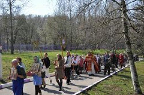Престольный праздник в храме Воскресения Христова при пансионате ветеранов № 6