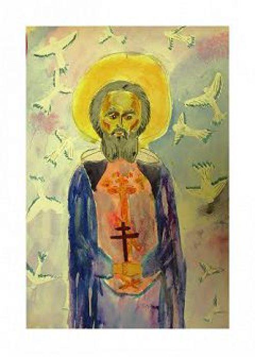 Прихожане храма Казанской иконы Божией Матери в Сосенках подготовили новую выставку детских рисунков в творческой галерее «Переход»
