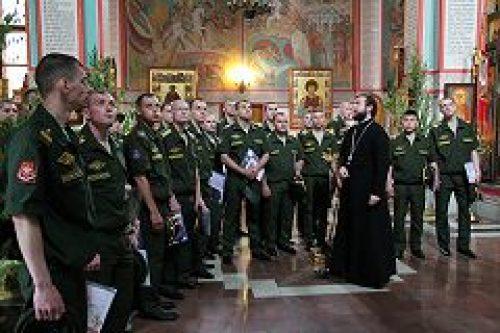 Военнослужащие РВСН посетили храм вмц. Варвары и прп. Илии Муромца Печерского в п. Власиха