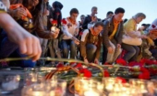 Православная молодежь Москвы приняла участие в патриотической акции «Вахта памяти. Вечный огонь – 2014»